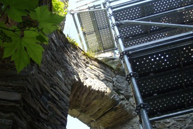 Sécurisation tour escalier de la chapelle du château